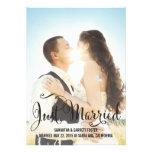 Romantic Script Wedding Announcement - Black Personalized Announcement