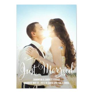 Romantic Script Wedding Announcement - White