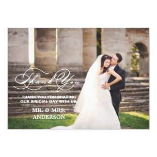 ROMANTIC SCRIPT | WEDDING THANK YOU PHOTO CARD PERSONALIZED INVITATION