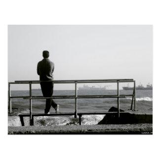 Romantic sea view postcart postcard