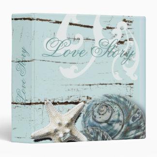 Romantic SeaShell Beach Wedding Album Binder