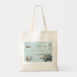 Romantic SeaShell Beach Wedding Favor Tote Bag