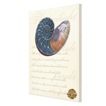 Beach Themed Romantic Seashell Canvas Print