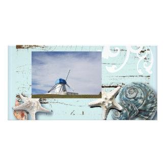 Romantic Seashells Beach Wedding PhotoCard Photo Card