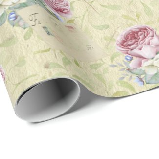 Romantic Shabby Roses and Mail Wrapping Paper