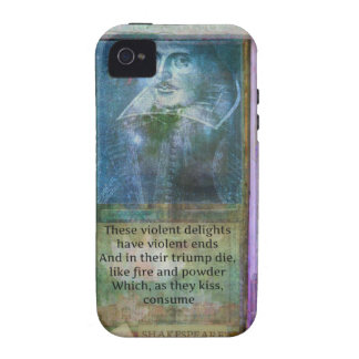 Romantic Shakespeare quote from Romeo and Juliet. Case-Mate iPhone 4 Covers