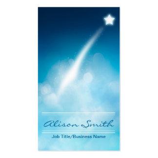Romantic Shooting star business card Tarjetas De Visita