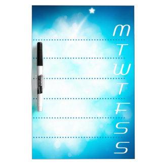 Romantic Shooting star Dry Erase Board
