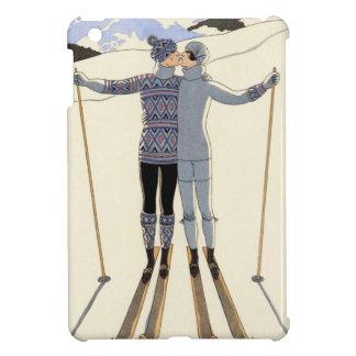 Romantic Skiing Couple iPad Mini Case