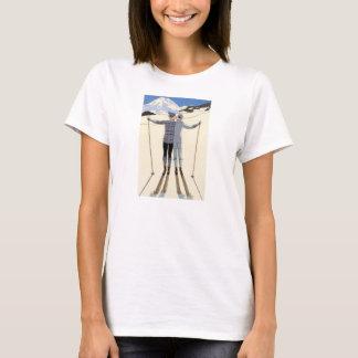 Romantic Skiing Couple T-shirt