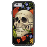 Romantic Skull Skeleton with Hearts and Flowers Tough Xtreme iPhone 6 Case