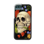 Romantic Skull Skeleton with Hearts and Flowers Phone SE/5/5s Case