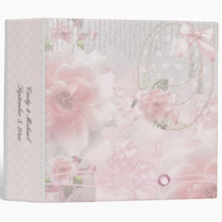 Romantic Soft Pink Roses Binder