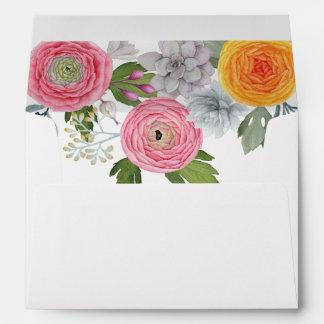 Romantic Southwest Wedding Invitation Envelope