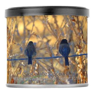 Romantic sparrow bird couple photo, Party Favor Hot Chocolate Drink Mix