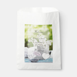 Romantic Spring Flower Floral  Lilac Wedding Favor Bag