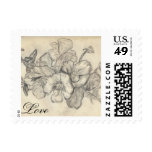 romantic spring flowers stamps