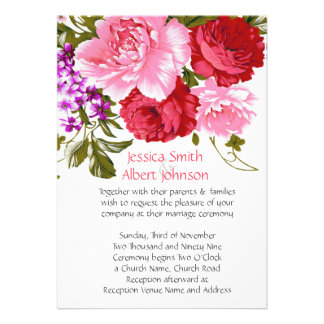 Romantic Spring Garden Flowers Wedding Invite