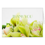 Romantic Spring Orchid Thank You Card Greeting Card
