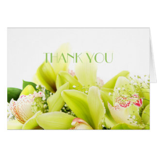 Romantic Spring Orchid Thank You Card