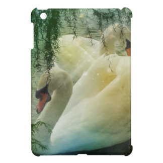 Romantic Spring Swan Lake White Swans Cover For The iPad Mini