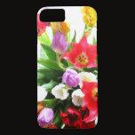 Romantic Spring Tulip Flowers Pattern iPhone 7 Case