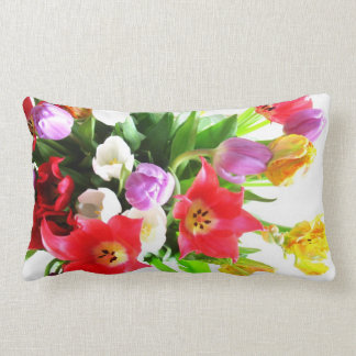 Romantic Spring Tulips Flowers Pillow