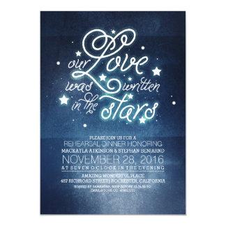 Romantic Stars Rehearsal Dinner Invitation