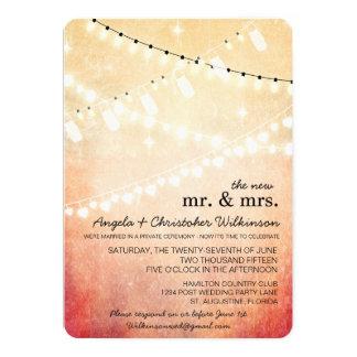 Romantic String Lights After Wedding Invitation