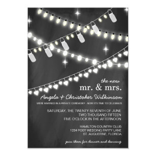 Reception only invitations zazzle romantic string lights reception only invitation aloadofball Choice Image