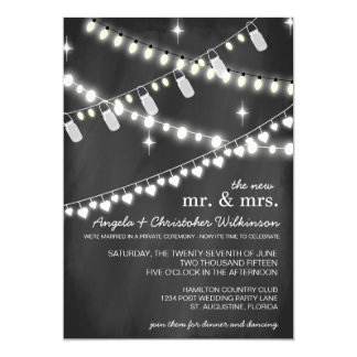 reception only invitations & announcements zazzle Wedding Reception Only Invitations romantic string lights reception only invitation wedding reception only invitations