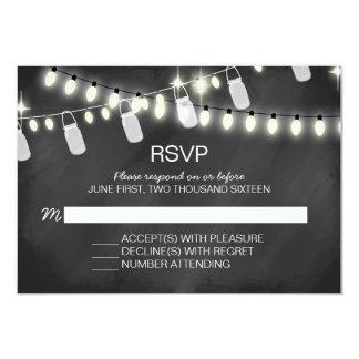 Romantic String Lights RSVP Cards
