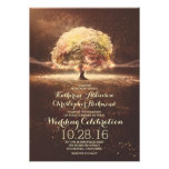 romantic string lights tree fall wedding invites at Zazzle