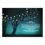 Romantic string lights trees rustic wedding invite