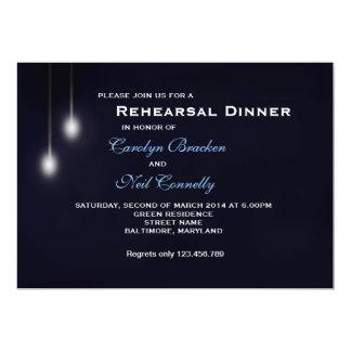 "Romantic Strret Light Blue Rehearsal Dinner Card 5"" X 7"" Invitation Card"
