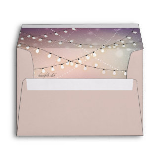 Romantic Strung Lights Lined Envelope