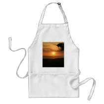 romantic sunset adult apron