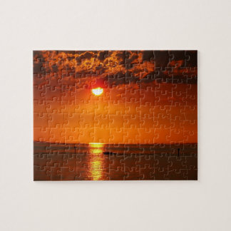 Romantic sunset at the Lake Constance - Puzzle
