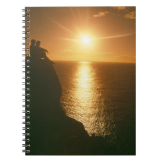 romantic sunset by the beach notebook