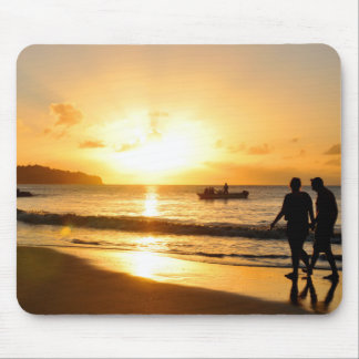 Romantic sunset mouse pad
