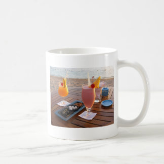 romantic sunset classic white coffee mug