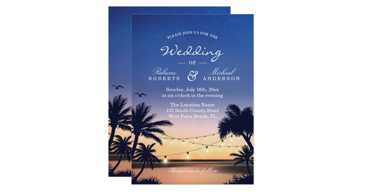 Sunset Wedding Invitations & Announcements | Zazzle