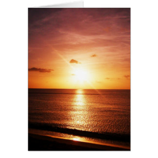 Romantic Sunset Picture Card