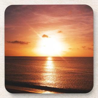 Romantic Sunset Picture Coaster