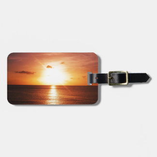 Romantic Sunset Picture Luggage Tag