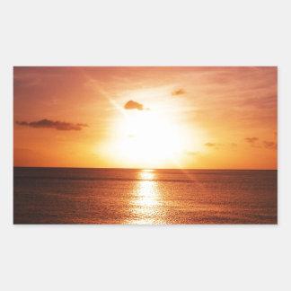 Romantic Sunset Picture Rectangular Sticker