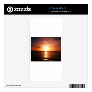 Romantic Sunset Picture Skins For iPhone 4S