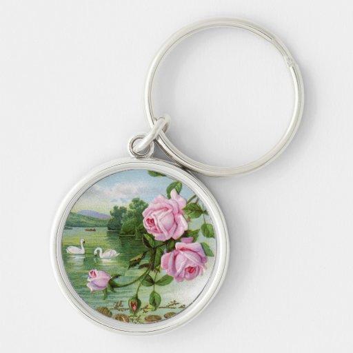 Romantic Swan Key Chain