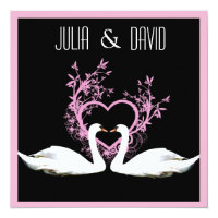 Romantic Swans Wedding Invitation