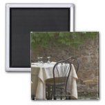 romantic table for two 2 inch square magnet